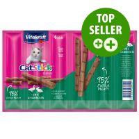 6 x 6 g Vitakraft Cat Stick Classic, Ente & Kaninchen