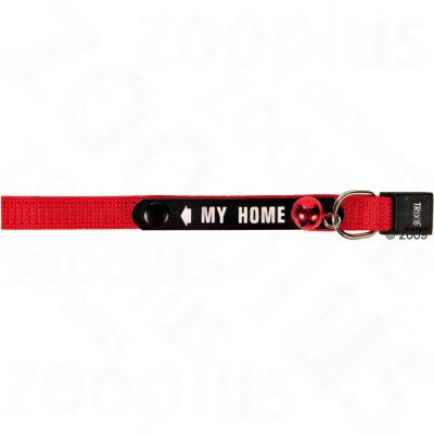 22cm Trixie Cat Collar with Address Tag - Red