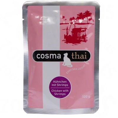 6 x 100g Cosma Thai Pouches - Tuna with Crab Meat