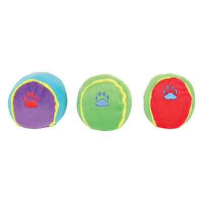 3 Trixie Colourful Balls Dog Toys