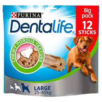 12 Sticks Purina Dentalife Snacks - Maxi Pack Large
