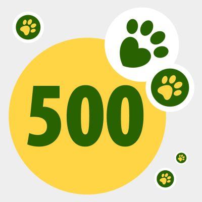 Donazione in aiuto ad animali bisognosi: 500 punti