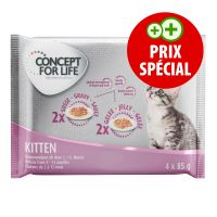 Offre d'essai Concept for Life Kitten 4 x 85 g pour chat