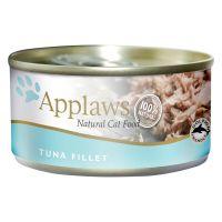 6 x 70 g Applaws en caldo filete de atún