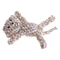 Hundleksak djurfigur av bomullsrep