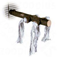 Trixie naturlig sittpinne med rep