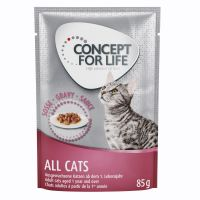 12 x 85g Concept for Life All Cats – in Gravy