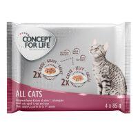 Offre d'essai Concept for Life All Cats 4 x 85 g pour chat