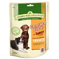 225g James Wellbeloved CrackerJacks Turkey Dog Treats