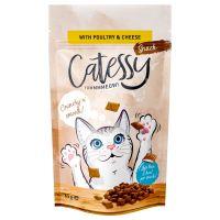 Catessy Knabber-Snacks - Pasăre, brânză & taurină 65 g
