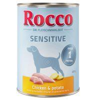 Rocco Sensitive 6 x 400 g kutyatáp - csirke burgonyával