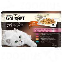 4 x 85 g Gourmet A La Carte pato, aves, sardinha e truta