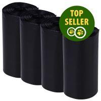 Fekete kutyaürülék zacskó - 4 x 20 zacskó
