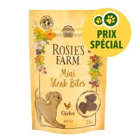 Friandises Rosie's Farm Mini bouchées poulet 70 g pour chien