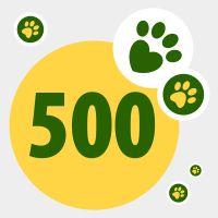Don de 500 points pour aider les animaux