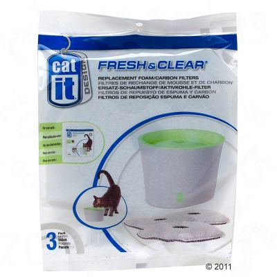 3 Catit Design Foam/Carbon Fountain Filters