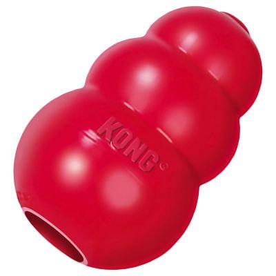 KONG Classic Red kutyajáték - Közepes, kb. 9 cm