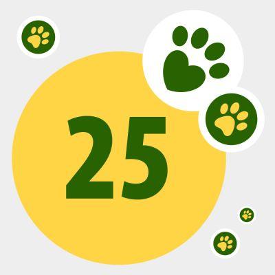 Donation till djur i nöd: 25 zooPoäng