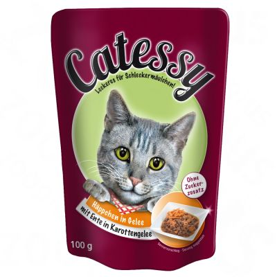 12 x 100g Catessy Chunks in Vegetable or Egg Jelly