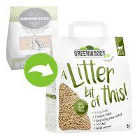 Greenwoods Nisip din fibre vegetale care formează bulgări, 8 l