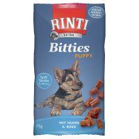 RINTI Extra Bitties Puppy Pui & vită 75 g