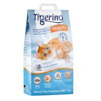 Tigerino Nuggies Ultra Nisip pentru pisici - Parfum de floare de bumbac 14 l