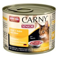 6 x 200g Animonda Carny Senior Cat Food - Beef, Chicken & Cheese