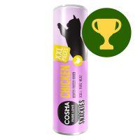 Prémio do mês: 30 g Cosma snacks liofilizados para gatos - frango