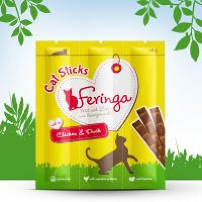 3 x 6 g Feringa Katzensticks, Huhn & Ente