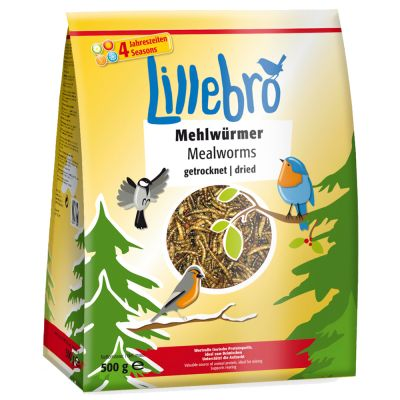 500g Lillebro Dried Mealworms for Wild Birds