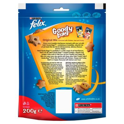 200g Felix Goody Bag Cat Treats Maxi Pack - Original Mix