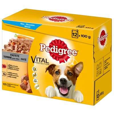 12 x 100g Pedigree Pouch in Pâté Multipack