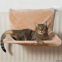 Hamac de radiateur Yumi pour chat - beige