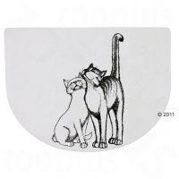 Ölelkező macska mintás tál alátét- 40 x 30 cm