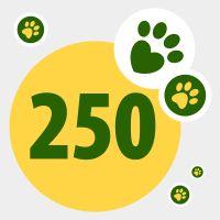 Don de 250 points pour aider les animaux