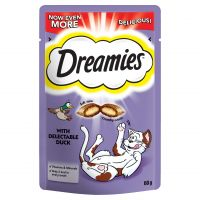60g Dreamies Cat Treats with Duck