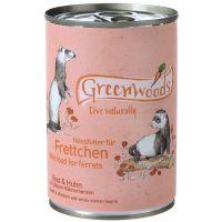Greenwoods bœuf, poulet pour furet - 6 x 400 g
