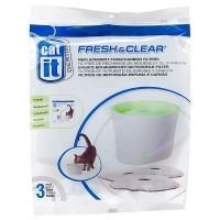 3 Catit Design Foam/Carbon Fountain Filters