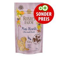 "50 g Rosie's Farm Puppy Snacks ""Mini Hearts"" Truthahn"