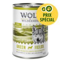 Wolf of Wilderness Green Fields 1 x 400 g pour chien