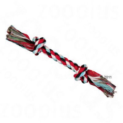 Trixie corda gioco per cani colorata, 26 cm con 2 nodi