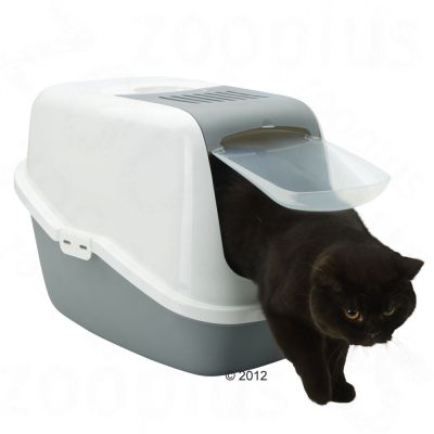 Savic Nestor Cat Litter Box - Light Green