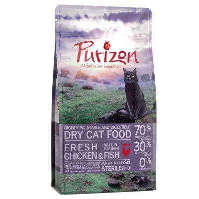 Purizon Adult Sterilised poulet, poisson - sans céréales 400 g pour chat