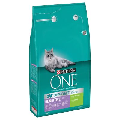 800g Purina ONE Sensitive Turkey & Rice Dry Cat Food