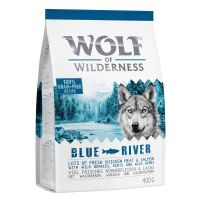 "400g Wolf of Wilderness Adult ""Blue River"" Salmon Dry Dog Food"