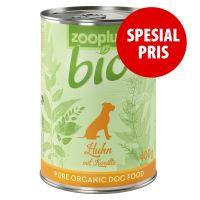 zooplus Bio våtfôr - kylling med ris og gulrot 400g