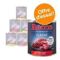 Assortiment de boîtes Rocco Classic 6 x 800 g pour chien