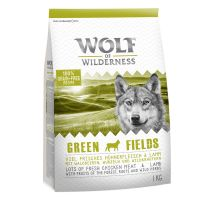 "1kg Wolf of Wilderness Dog Food ""Green Fields"" - Lamb"