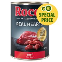 400g Rocco Real Hearts - Beef with whole Chicken Hearts