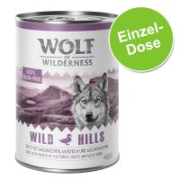 1 x 400 g Wolf of Wilderness Wild Hills, Ente